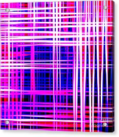 lines and squares in purple Color Waves - PL414 Acrylic Print