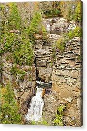 Linville Falls - Vertical Acrylic Print