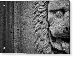 Acrylic Print featuring the photograph Lion Statue Portrait by Nathan Bush