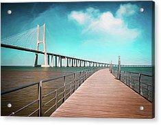 Lisbon Vasco Da Gama Bridge Portugal Acrylic Print