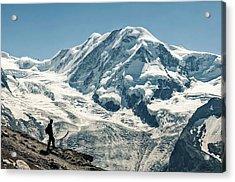 Liskamm Lyskamm 4527m Mountain Peak In Acrylic Print by Alpamayophoto