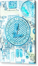 Litecoin Design Acrylic Print