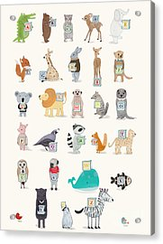 Little Alphabet Acrylic Print by Bri Buckley