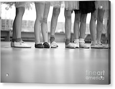 Little Ballerinas Legs Standing In A Acrylic Print