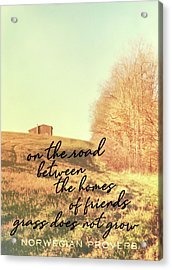 Little Getaway Quote Acrylic Print by JAMART Photography