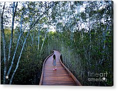 Little Girl Age 04 Visit In Coombabah Acrylic Print