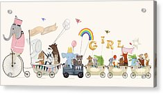 Little Girls Parade Acrylic Print by Bri Buckley
