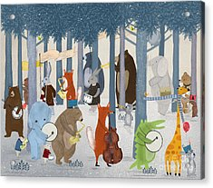 Little Nature Parade Acrylic Print by Bri Buckley