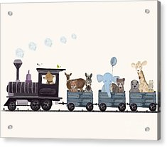 Little Nature Train Acrylic Print by Bri Buckley