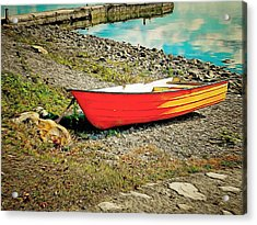 Acrylic Print featuring the photograph Little Orange Boat by Dorothy Berry-Lound