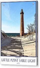 Little Point Sable Light Poster Acrylic Print by Fran Riley
