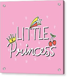 Little Princess - Baby Room Nursery Art Poster Print Acrylic Print