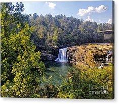 Acrylic Print featuring the photograph Little River Canyon Falls Alabama by Rachel Hannah