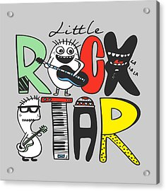 Little Rock Star - Baby Room Nursery Art Poster Print Acrylic Print