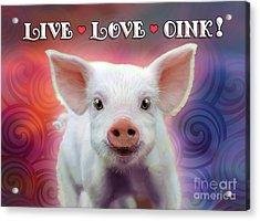Live Love Oink Acrylic Print