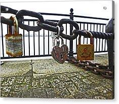 Liverpool. The Albert Dock. Eternal Love. Acrylic Print