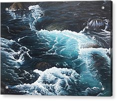 Acrylic Print featuring the painting Living Waters by Peter Mathios