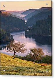 Llyn Brianne Sunrise Acrylic Print