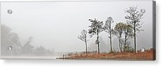 Acrylic Print featuring the photograph Loch Ard Misty Autumn Morning by Grant Glendinning