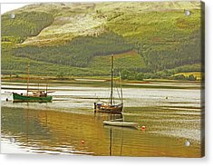 Loch Leven. The Boats At Ballachulish Acrylic Print