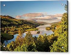 Loch Tummel Sunrise, Queen's View Acrylic Print by David Ross