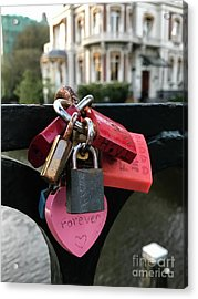 Lock Up Your Love Acrylic Print