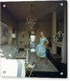 Lola Albright Acrylic Print by Slim Aarons