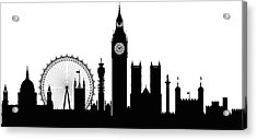 London Buildings Are Detailed, Complete Acrylic Print by Leontura