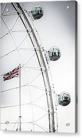 London Eye And Union Jack Acrylic Print