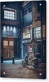 London Foggy Corners Acrylic Print