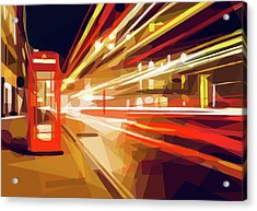Acrylic Print featuring the digital art London Phone Box by ISAW Company
