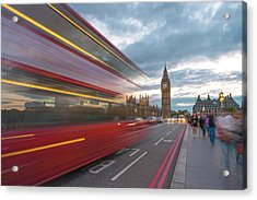 London Rush Hour Acrylic Print by Rob Maynard