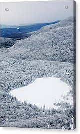 Lonesome Lake From Hi-cannon Trail Acrylic Print by Premium Uig