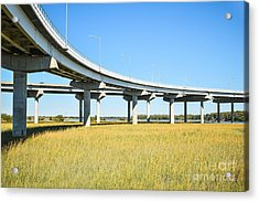 Long Concrete Bridge  Acrylic Print