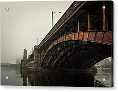 Acrylic Print featuring the photograph Longfellow Bridge I Color by David Gordon