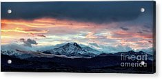 Longs Peak At Sunset Acrylic Print