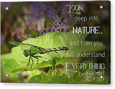 Look Deep Into Nature  Acrylic Print