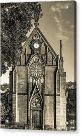 Loretto Chapel Of Santa Fe New Mexico - Sepia Edition Acrylic Print