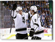 Los Angeles Kings V Vancouver Canucks - Acrylic Print by Rich Lam