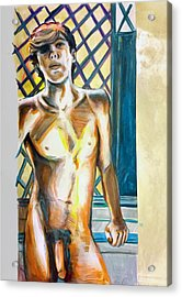 Acrylic Print featuring the painting Lost Summer Love  by Rene Capone
