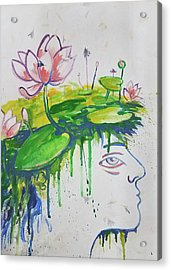 Lotus Head Acrylic Print