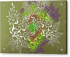 Acrylic Print featuring the digital art Lotus Remix by Vitaly Mishurovsky