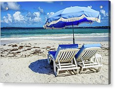 Acrylic Print featuring the photograph Lounging On Orient Beach, St. Martin by Dawn Richards
