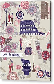 Love In Rome Greeting Card Acrylic Print