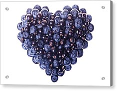 Love Shape Of Fresh Fruit Acrylic Print by Digihelion