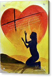 Love The Lord Acrylic Print
