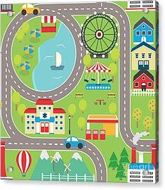 Lovely City Landscape Car Track Acrylic Print