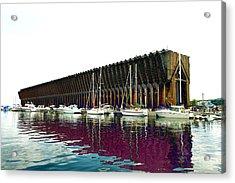 Lower Harbor Ore Dock At Marquette Michigan. Acrylic Print