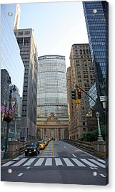 Lower Park Avenue, Grand Central Acrylic Print by Barry Winiker