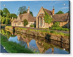 Lower Slaughter And The River Eye Acrylic Print by David Ross
